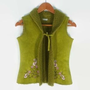 Kids-Up Kids Wear Girls Pea Green Vest 5t-6t